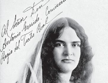 ?? FOTO: REFORMA ?? > La contralto mexicana debutó en Roma a los 22 años, en 1909.