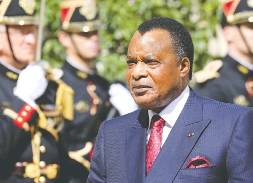 ?? LUDOVIC MARIN / AFP VIA GETTY IMAGES FILES ?? Despite its petroleum riches, Congo — also known as Congo-Brazzaville — is nearly bankrupt after years of corruption under strongman president Denis Sassou Nguesso, who reportedly lives in luxury, spending a reported US$110,000 just on crocodile-skin shoes.