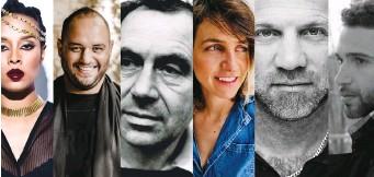 ?? (Wikipedia/Courtesy) ?? SHAI AGNON (bottom) and Yehuda Amichai (center in composite) will be honored in two different festivals.