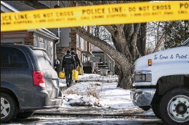?? AARON VINCENT ELKAIM / NEW YORK TIMES ?? Police tape surrounds the Toronto property where police said they found the dismembered remains of six people in planters. Landscaper Bruce McArthur was sentenced Friday to life in prison in eight murders.