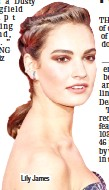 ??  ?? Lily James