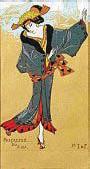 ??  ?? Oriente. Il progetto al Mudec di Milano fino al 2/2/2020. La Sacerdotessa del fuoco, guazzo, di Henri-Gabriel Ibels e Georges de Feure (1910)