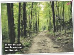 ??  ?? Se reconnecter avec la nature et ses bienfaits…