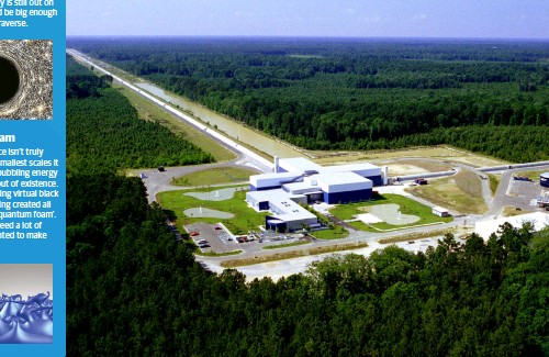 ??  ?? Below: LIGO at Livingston, Louisiana, listens for faint whispers of the most energetic events in the universe