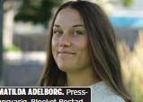 ??  ?? MATILDA ADELBORG. Pressansvarig, Blocket Bostad.
