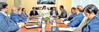 ??  ?? Sri Lanka Pharmaceutical Manufacturers' Association (SLPMA) and Pakistani Pharmaceutical Manufacturers' Association (PPMA) members alongside State Minister Channa Jayasumana and Rohitha Uduwawla, Secretary to the Ministry