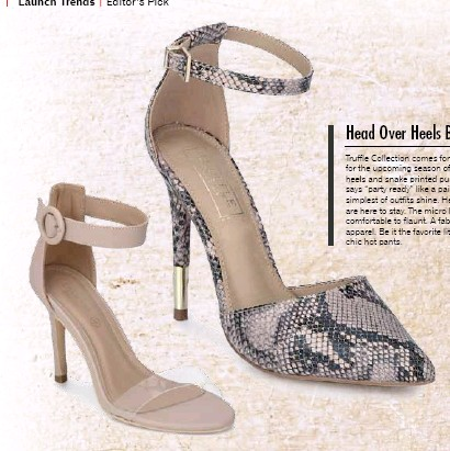 67829ba7880 A fabulous pair of heels goes well with any kind of apparel. Be it the  favorite little black dress