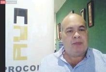 ??  ?? El presidente de Aprocons, Luis Caló, dio inicio al encuentro anual del gremio, que esta vez se desarrolló de forma virtual.