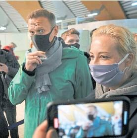 ??  ?? Preso. Navalny fue arrestado el domingo pasado al regresar a Moscú.AP