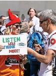 ??  ?? Demonstrierende in Aarau.