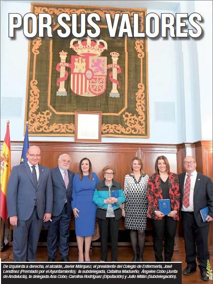 Foto de los premiados por sus Valores