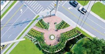 ?? PROVIDED ?? The West Chester Twp. trustees have approved $359,408 in TIF funding for the new Station Road pocket park, the final touch on the huge Cincinnati Dayton Road widening project.