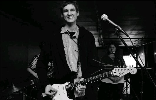?? PHOTO COURTESY OF PAIGE MORROW ?? By day, David Eby represents the B. C. Civil Liberties Association. By night, he loosens up as the lead-singer guitarist with the rock group Ladner.