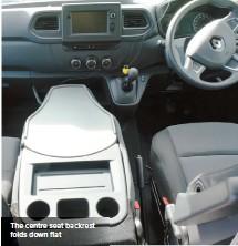 ??  ?? The centre seat backrest folds down flat