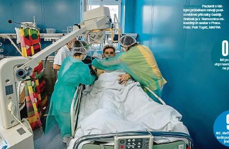 ??  ?? Covidárium Pacienti s těžkým průběhem mívají postcovidové příznaky častěji. Snímek je z Nemocnice milosrdných sester v Praze. Foto: Petr Topič, MAFRA