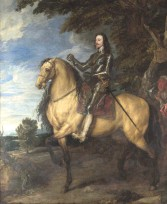 ??  ?? Portrait prestige: Charles I, depicted as an armoured knight aboard a golden war horse