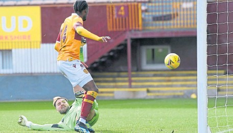 ??  ?? Devante Cole scores to secure points for Well