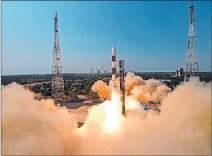 ?? EFE ?? Acto. El vehículo de lanzamiento de satélites polares de la India PSLV-C51.