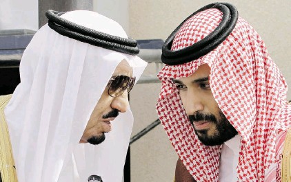 ?? HASSAN AMMAR/ THE ASSOCIATED PRESS/ FILE ?? King Salman, left, has elevated his son, Prince Mohammed to the position of deputy crown prince. As defence minister, Mohammed has assumed a leading role in the Saudi-led air campaign against Shiite rebels in Yemen.