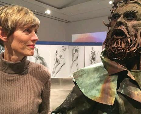 ?? WILL MCGUIRK FOR THE TORONTO STAR ?? Linda Jansma, senior curator at Robert McLaughlin Gallery, says Oshawa is fertile for art because of people like pioneering painter Alexandra Luke.