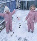 ??  ?? • Maya, 3, and Lilah, 2, from Bacup