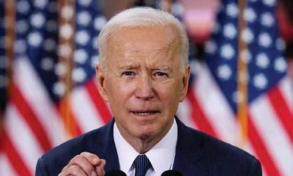 ?? Photograph: Jonathan Ernst/Reuters ?? Joe Biden discusses his infrastructure plan in Pittsburgh, Pennsylvania, last month.