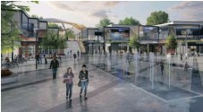 ??  ?? AN ARTIST'S impression of the Town Square in the Ntshongweni development.