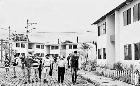 ?? Archivo / el comercio ?? •• Obras en Santo Domingo de los Tsáchilas son parte de Casa para Todos, programa que se impulsará este año.
