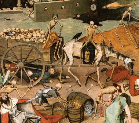 ?? REPRO MUSEO DEL PRADO ?? Triumf smrti. Detail obrazu vlámského malíře 16. století Pietera Bruegela staršího.