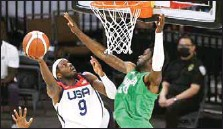 ??  ?? After D'Tigers fairytale run against USA and Argentina, the Nigerian senior men's team lost 69-108 against Australia in the early hours of Wednesday