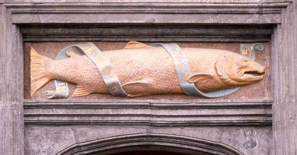 ?? FOTO JORIS HERREGODS ?? De Zalm is een van de oudste gebouwen in renaissancestijl van onze gewesten.