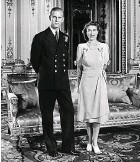 ??  ?? Young couple: Queen and Philip in 1947