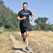 ??  ?? High step count: James Logan runs two to three times a week