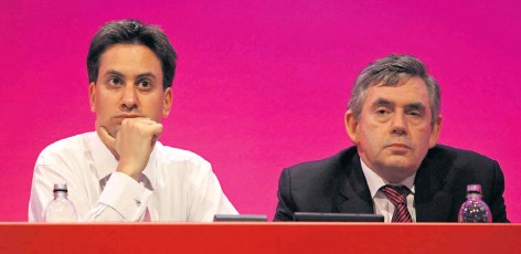 ??  ?? Old hands: Miliband and Brown are holierthan-thou – but not all their ideas are bad