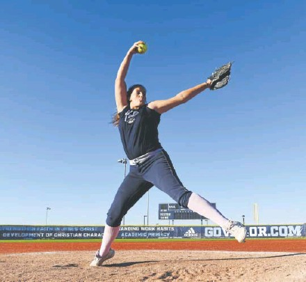 """?? John Leyba, The Denver Post ?? Ali Kilponen has pitched every inning of every game played by the Valor Christian softball team this season. """"I know I've prepared myself to throw as much as I have this season,"""" she says, """"and I always want the ball."""""""