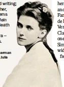 ??  ?? Brahms' wrestle: the German composer was fond of Julie