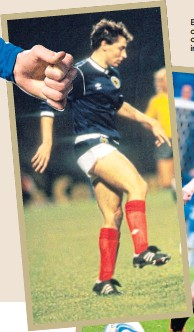 ??  ?? Early days. Left, Maurice Malpas during one of his first Scotland outings and (below) Andy Robertson in action for Dundee United