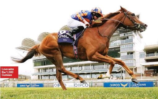 ??  ?? Love wins the 1,000 Guineas