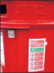 ??  ?? MULTI-TASKING has even spread to pillar-boxes these days, says David Donaldson. This one, in Clarence Drive, Hyndland, doubles as a fire extinguisher.