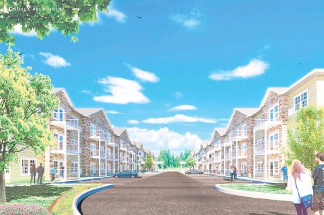 ?? GOUCKARCHITECTS/CONTRIBUTED ?? A rendering of Macungie Manor, a senior living complex developer Abe Atiyeh is hoping to add to a 4-acre parcel on Hillview Road that spans both Lower Macungie and South Whitehall Townships.