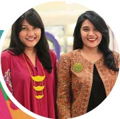??  ?? Warda (left) and Wirda create traditional Malay necklaces and brooches with a modern twist. — LOW BOON TAT/The Star