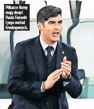 ??  ?? Piłkarze Romy mają dosyć Paulo Fonseki i jego metod treningowych.