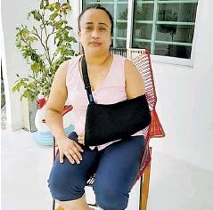 ??  ?? Dina Díaz está en recuperación tras la operación.
