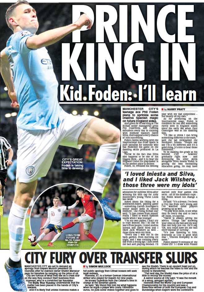 ??  ?? CITY'S GREAT EXPECTATION: Foden is taking time to develop