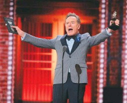 """??  ?? CLOCKWISE FROM TOP LEFT: Ali Stroker achieved a landmark for those with disabilities in winning best supporting actress in a musical as Ado Annie in the revival of """"Oklahoma!"""" André De Shields won best supporting actor for his role in """"Hadestown."""" Rachel Chavkin accepts the best direction of a musical award for """"Hadestown."""" Bryan Cranston accepts the best actor in a play award for """"Network."""""""