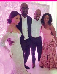 Far Left Dj Black Coffee Was Walked Down The Aisle By His Eldest Son Esona And Above Wedding Very Intimate