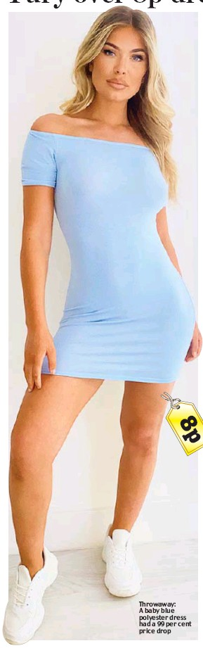 ??  ?? Throwaway: A baby blue polyester dress had a 99 per cent price drop