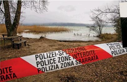 ?? FLORIAN CELLA ?? Le corps de la victime avait été découvert en janvier 2018 dans ce marais de Cheyres (FR).