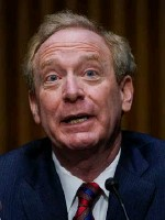 ??  ?? Attack warning: Microsoft president Brad Smith