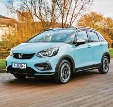 ?? Foto: Honda ?? Auch wenn der Honda Jazz als Crosstar eigenartig geschrieben wird, als Mini‰SUV kann er, abgesehen vom Preis, durchaus überzeugen.